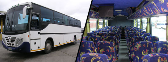 60 / 65 Seater Semi Luxury Coach Johannesburg