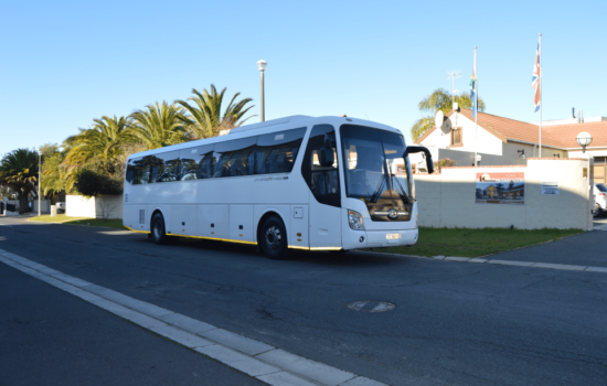 39 seater luxury coach parking at lodge