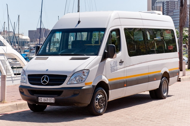 21 seater luxury coach parking at harbour