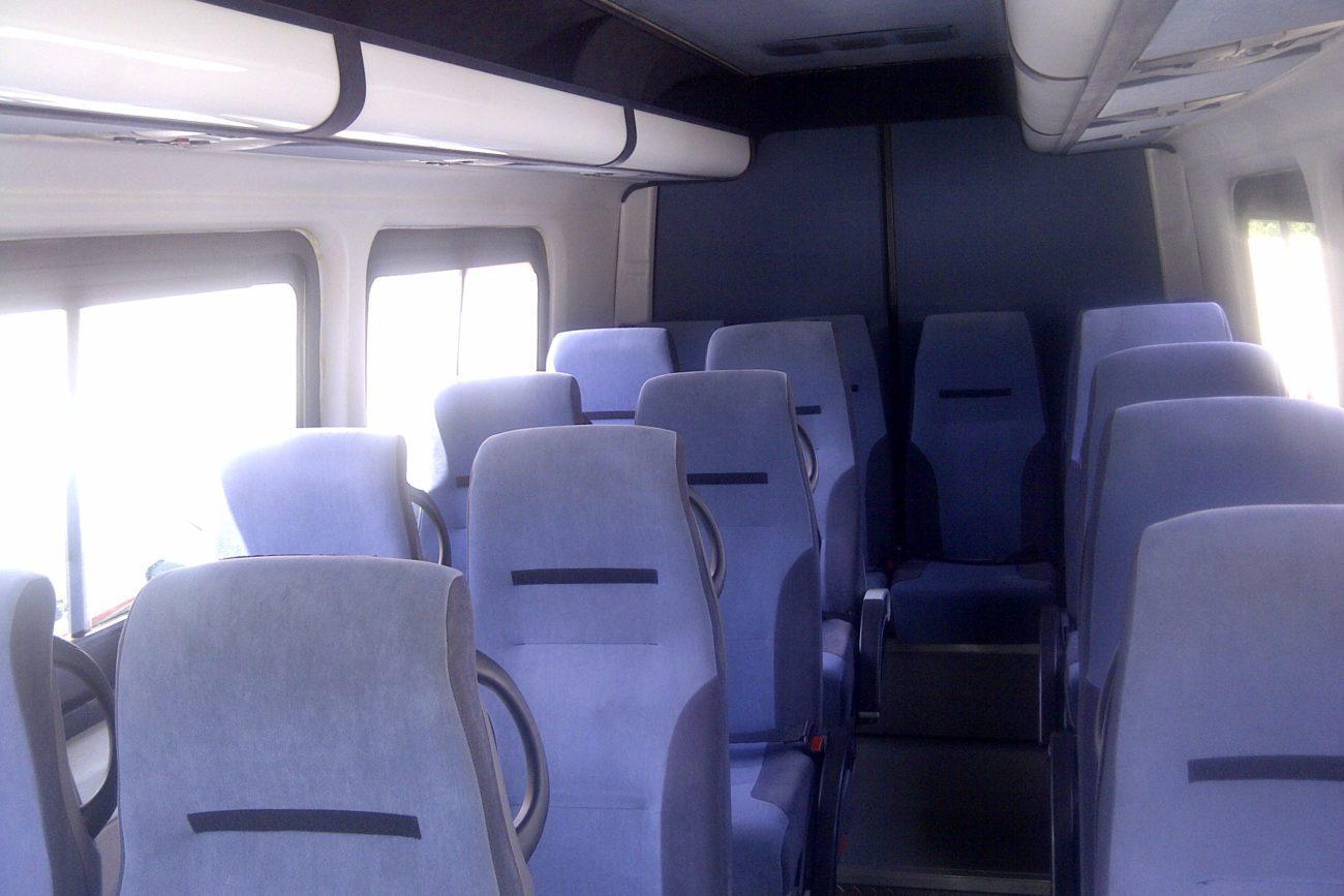 blue luxurious coach reclining seats